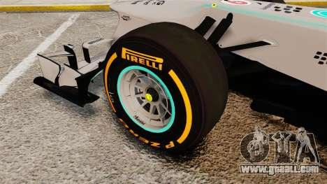Mercedes AMG F1 W04 v3 for GTA 4 back view