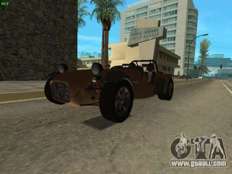 Caterham 7 Superlight R500 for GTA San Andreas right view