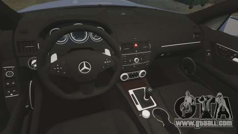 Mercedes-Benz C63 AMG 2010 for GTA 4 inner view