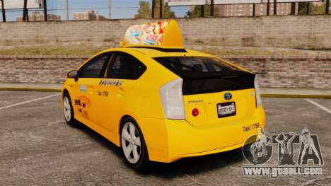 Toyota Prius 2011 Adelaide Yellow Taxi for GTA 4 back left view