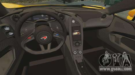 McLaren P1 2014 [EPM] for GTA 4 inner view