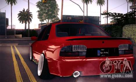 Proton Wira Hype for GTA San Andreas inner view