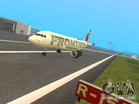 Airbus A319-111 Frontier Airlines Red Foxy for GTA San Andreas
