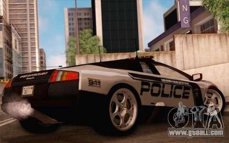 Lamborghini Murciélago Police 2005 for GTA San Andreas upper view