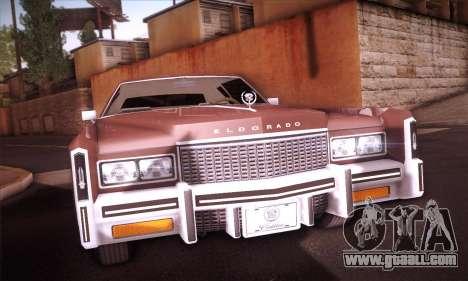 Cadillac Eldorado 1978 Coupe for GTA San Andreas back view