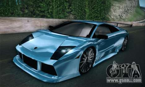 Lamborghini Murcielago GT Coloured for GTA San Andreas back left view