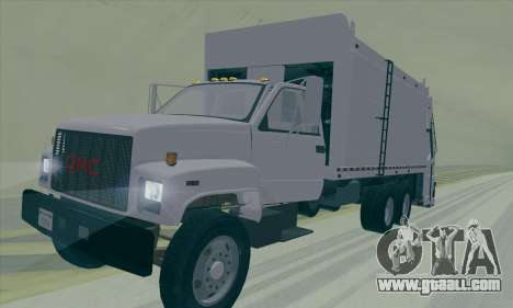 GMC C550 Topkick Trashmaster for GTA San Andreas back view