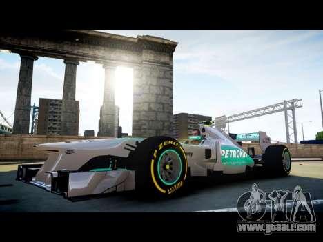 Mercedes F1 W04 for GTA 4