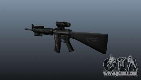 Assault rifle M16A4 AEG for GTA 4 second screenshot