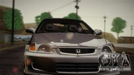 Honda Civic Si 1999 Coupe for GTA San Andreas inner view