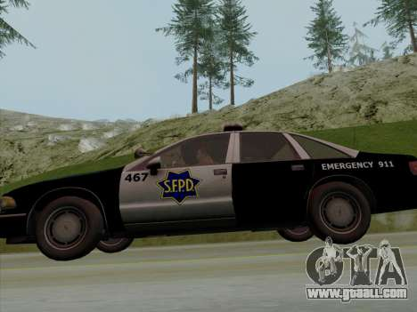 Chevrolet Caprice SFPD 1991 for GTA San Andreas side view