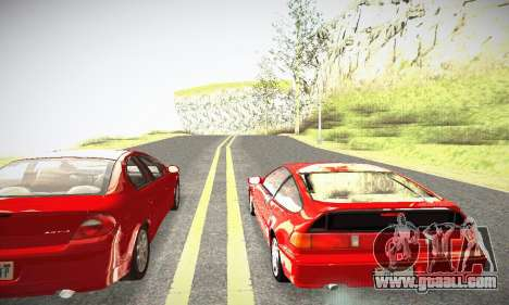 Honda CRX - Stock for GTA San Andreas right view
