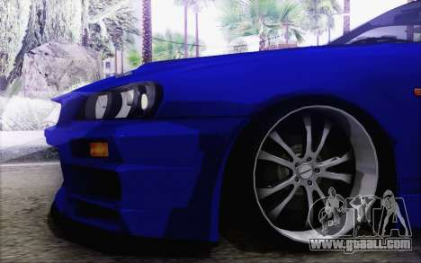 Nissan Skyline GT-R34 for GTA San Andreas left view