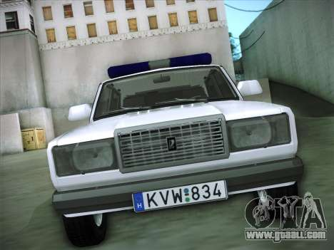 Lada 2107 Rendőrség for GTA San Andreas back view