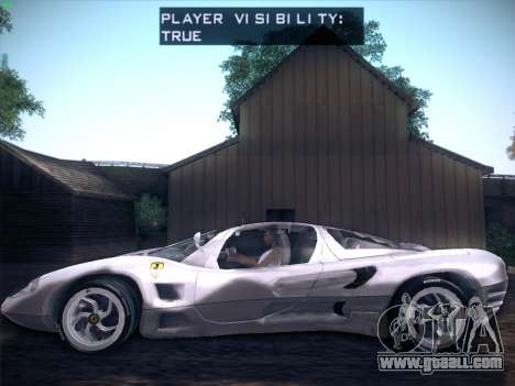 Ferrari P7 Chromo for GTA San Andreas back view