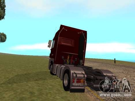 Mercedes-Benz Actros for GTA San Andreas left view
