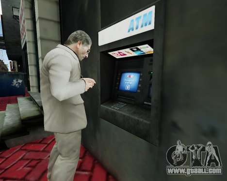 Account at an ATM for GTA 4