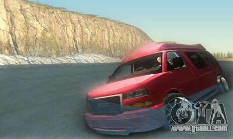 GMC Savana for GTA San Andreas interior