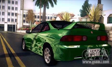 Honda Integra Normal Driving for GTA San Andreas left view