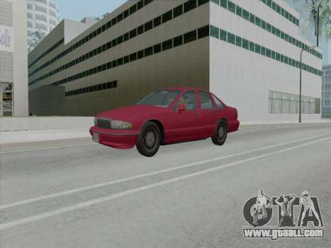 Chevrolet Caprice 1991 for GTA San Andreas back left view