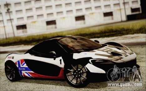 McLaren P1 2014 v2 for GTA San Andreas inner view
