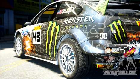 Ford Focus RS Monster World Rally Team WRC for GTA 4 left view