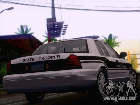 Ford Crown Victoria San Andreas State Trooper for GTA San Andreas bottom view
