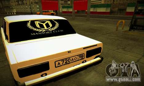 VAZ 2107 BUNKER for GTA San Andreas back left view