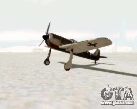 Focke-Wulf FW-190 A5 for GTA San Andreas left view