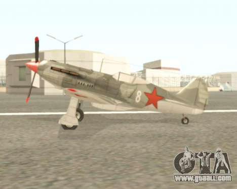 MIG-3 for GTA San Andreas back left view