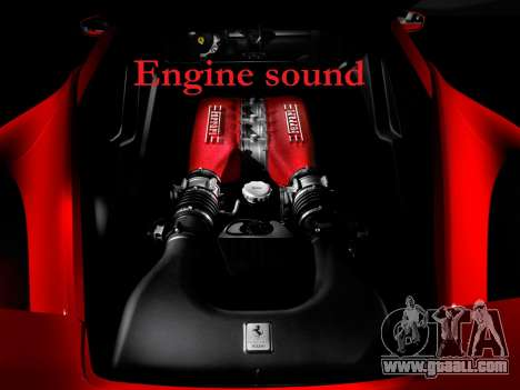 Sound of a Ferrari engine for GTA 4