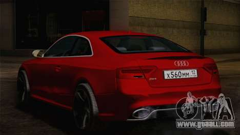 Audi RS5 2012 for GTA San Andreas back left view