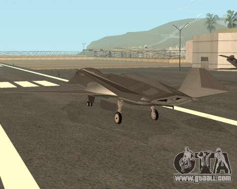 FA-37 Talon for GTA San Andreas back left view