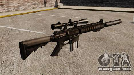 The SR-25 sniper rifle for GTA 4 second screenshot