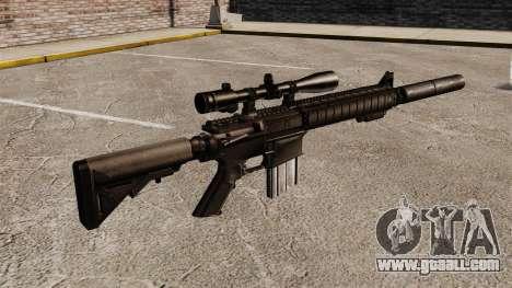 The SR-25 sniper rifle for GTA 4 second screenshot