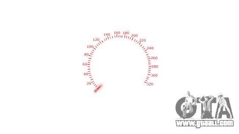Speedometer 320 km-h for GTA 4