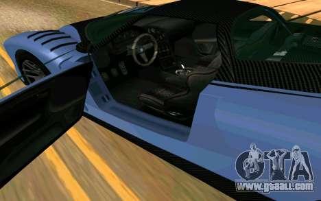 The Cheetah of GTA 5 for GTA San Andreas back left view