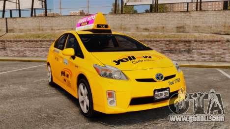 Toyota Prius 2011 Adelaide Yellow Taxi for GTA 4