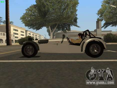 Caterham 7 Superlight R500 for GTA San Andreas left view