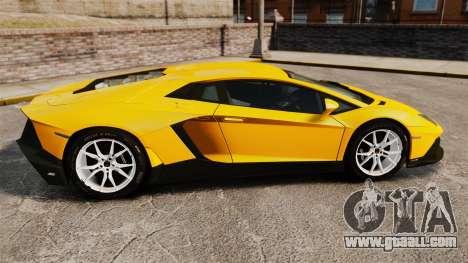 Lamborghini Aventador LP720-4 50th Anniversario for GTA 4 left view
