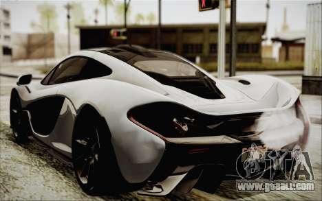 McLaren P1 2014 v2 for GTA San Andreas left view