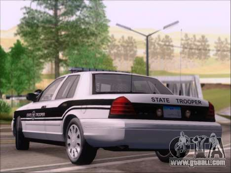 Ford Crown Victoria San Andreas State Trooper for GTA San Andreas back left view