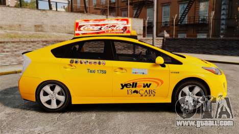 Toyota Prius 2011 Adelaide Yellow Taxi for GTA 4 left view