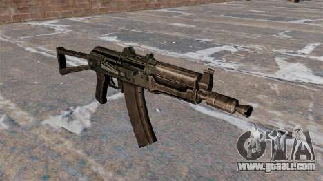 Automatic AKS74U Black for GTA 4