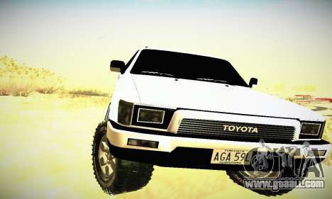 Toyota 4Runner 1995 for GTA San Andreas inner view