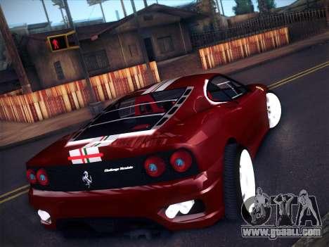 Ferrari 360 Challenge Stradale for GTA San Andreas back left view