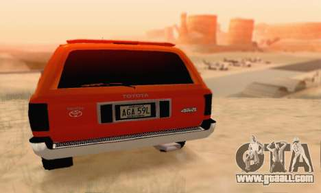 Toyota 4Runner 1995 for GTA San Andreas right view