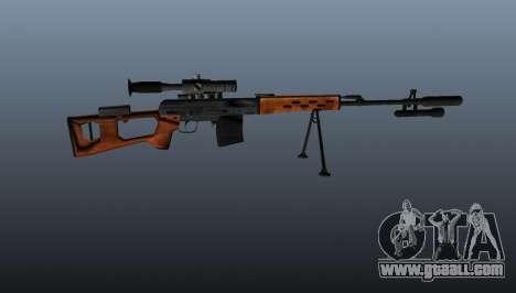 Dragunov sniper rifle A&K for GTA 4 third screenshot