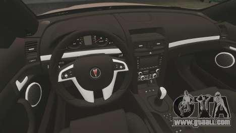 Pontiac G8 GXP [VE] 2009 for GTA 4 inner view