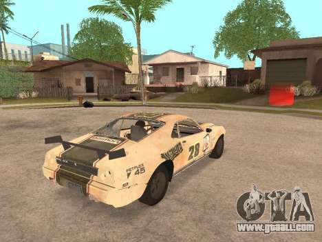 AMC Javelin AMX for GTA San Andreas back left view
